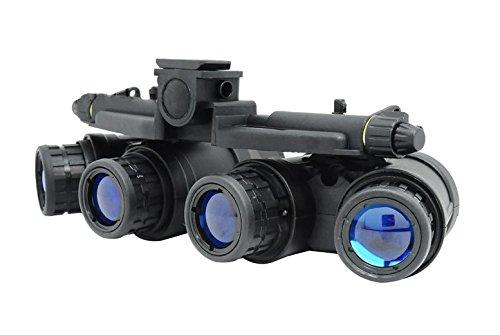 FMA Airsoft Dummy Quad Night Vision Goggles Black GPNVG 18 @ Helmet World