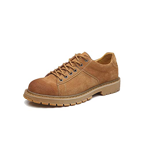 Casual Suede Shoe Herren Modische Kurze Stiefel Casual Classic Round Head rutschfeste Laufsohle Arbeitsschuhe. Herren Sneaker (Color : Yellow, Size : 40 EU)