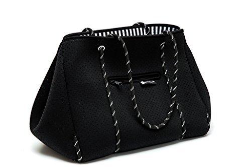 Margaux & May Multipurpose Tote Bag - XL lightweight flexible Neoprene bag (Black)