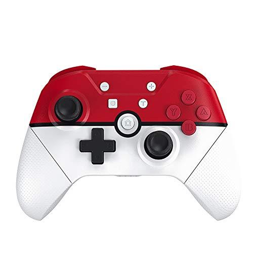 PGODYQ Controlador de Juego fácil de Transportar, Gamepad inalámbrico de Doble Choque para Consola de Video portatile Retro, Compatible con PC, Notebook-Elfball