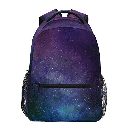 RXYY Universum Sterne Nebel Galaxy Schulrucksack für Jungen Mädchen Große Kapazität Büchertasche Reisetasche Schulter College Daypack Schultasche Büchertasche Wandern Camping
