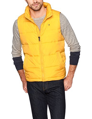Tommy Hilfiger Men's Quilted Puffer Vest, Yellow, Medium