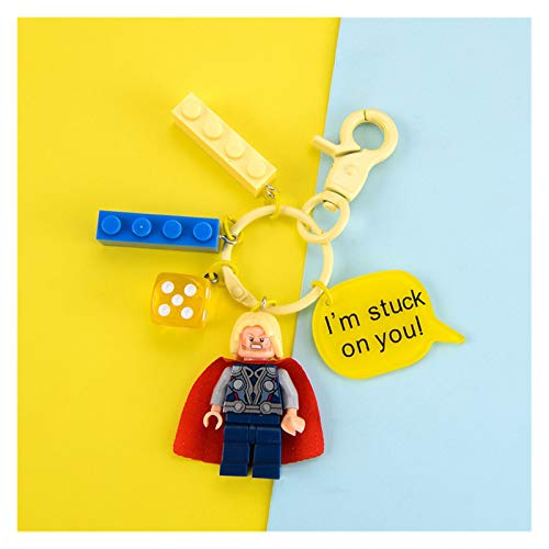 Xx101 Keychain New Cartoon Keyring Rabbit Soldier Hero Building Blocks KeyChain for Boys and Girls Key Chain Bag Pendant Jewelry Gifts (Color : CP 1051)
