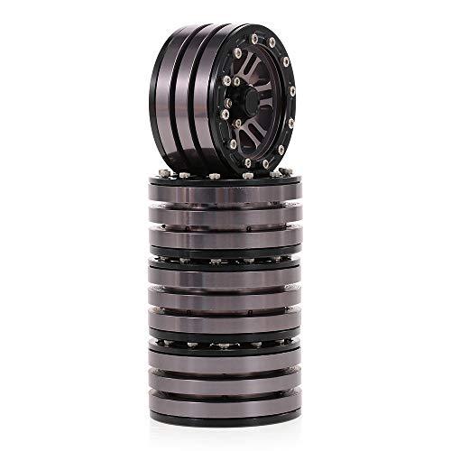 "1Stk 1.9/"" Beadlock Felgen Rad Räder für 1//10 RC Crawler AXIAL SCX10 D90 TRX-4"