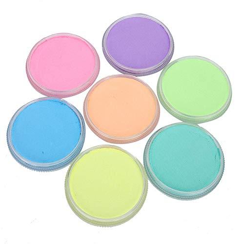 7 Fluorescent Color Pigment Art Body Face Paint pour performance painting party, coloré en trois dimensions30g DIY Body Paint Pigment Make Up Tool