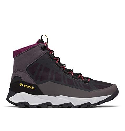 Columbia mens Flow Borough Mid Hiking Shoe, Dark Grey/Bright Gold, 10 US