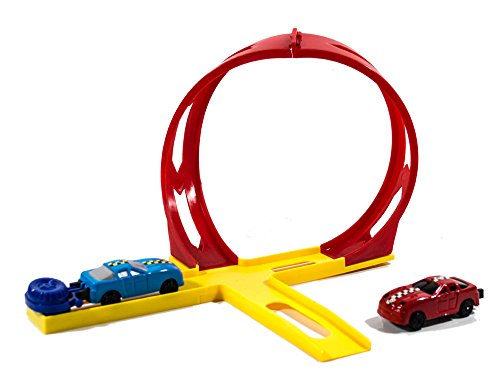 Super Speed Loopingbahn, 2 Autos, Spielzeug mit Katapult, Rennbahn Autorennbahn, Looping