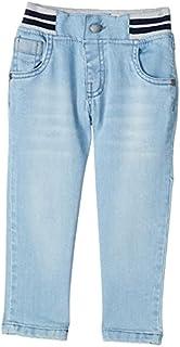 Giggles Striped Elastic Waist Slim-Fit Denim Pants for Boys