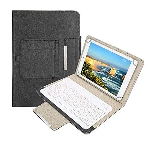 OKBY Custodia in PU Tastiera Android -10    Tablet Laptop Custodia Protettiva Universale in PU + Tastiera Bluetooth per Android iOS Win