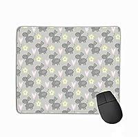 マウスパッドかわいいロバパターン生地プリントファッション長方形ラバーマウスパッド