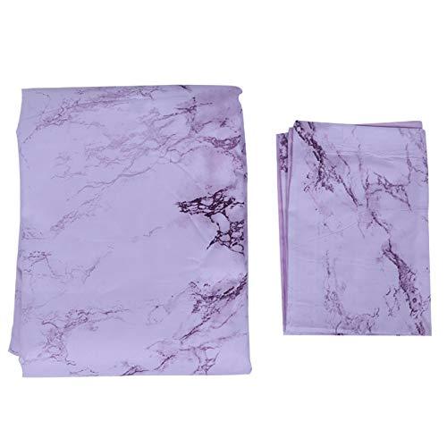 Funda nórdica de mármol púrpura Impresa en 3D, Juego de Ropa de Cama para el hogar, Funda de edredón Suave, sábana de Almohada, Suministros de Dormitorio(Quilt Cover 150 * 200cm Pillowcase 1)