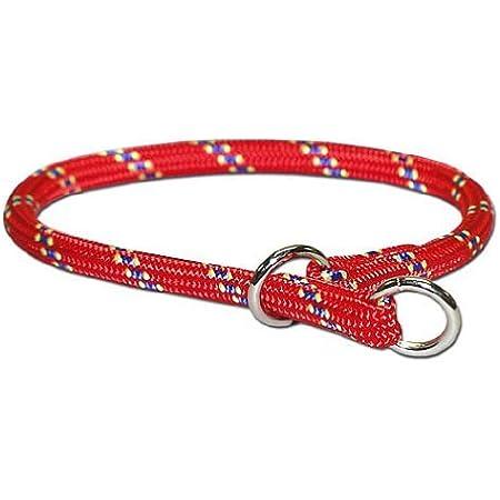 Morrco 犬 首輪 チョークカラー 中型犬 大型犬 マウンテンチョークカラー レッド [サイズ22:太さ (1.3cm)/長さ (55cm)]