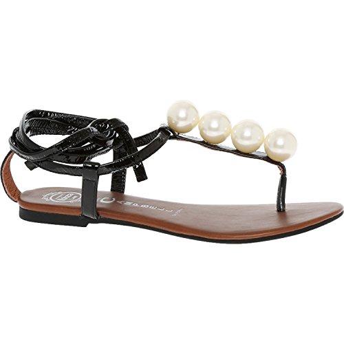 Jeffrey Campbell Taj Ball Perlglanz Sandale schwarz Fashion Damen Schuhe Schuhe, schwarz