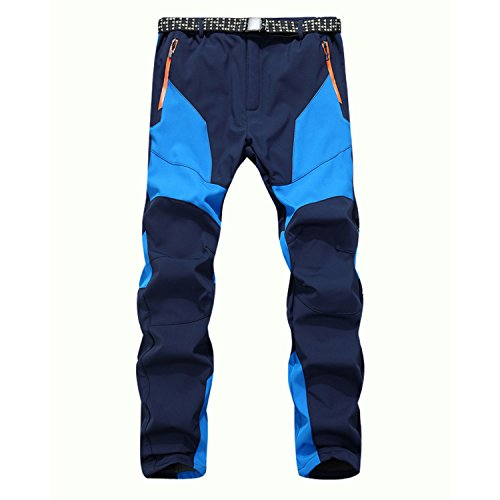 Herren Outdoor Hose Winddicht Wasserdicht Warm Camping Wanderhosen Blau
