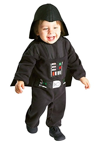 Rubies Toddler Boys Star Wars Darth Vader Jumpsuit Costume (2T-3T)