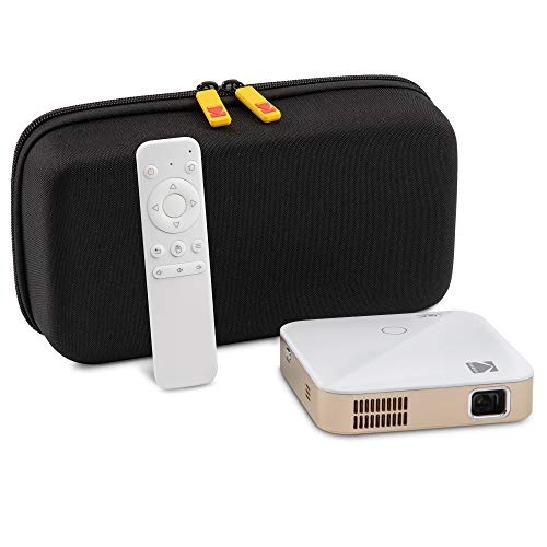 KODAK Luma 350 Portable Smart Projector w/Luma App | Up to 4K Ultra HD Rechargeable Video Projector w/Onboard Android 6.0, Streaming Apps, Wi-Fi with EVA Travel Case
