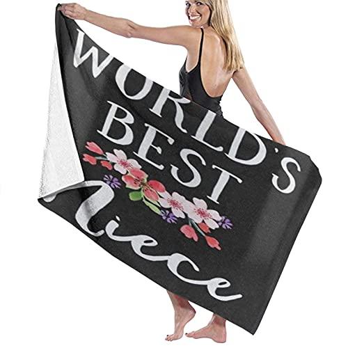 NINEHASA Over-Sized Luxury Bath Towel,World's Best Niece,Quick-Drying Towel Blanket for Travel Swim Pool Yoga Camping Gym Sport