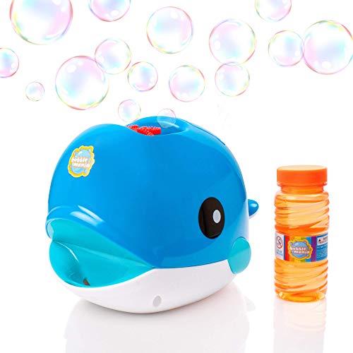 La machine à bulle de savon automatique Bubble whale de Bubble mania