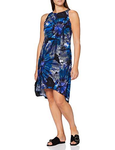 Desigual Vest_Nora Vestido Casual, Azul, XXL para Mujer