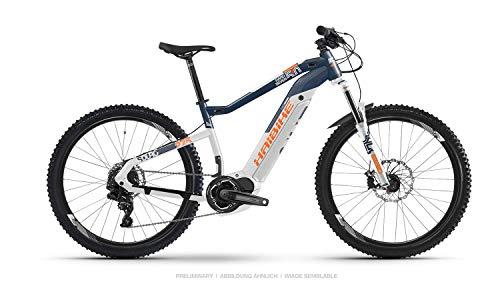 HAIBIKE Sduro HardNine 5.0 29\'\' Pedelec E-Bike MTB weiß/blau/orange 2019: Größe: S