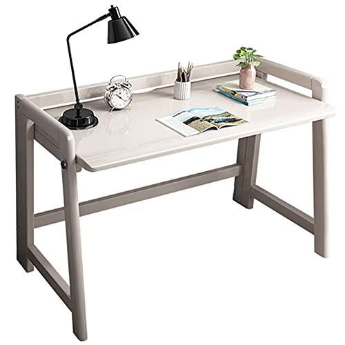 LJFYXZ Mesa de Ordenador Escritorio de Estudio por Trabajo/Tarea/Trabajo/Trabajo a Distancia Los 80CMx45CMx78CM Escritorio de Madera Plegable Fácil de Montar(Size:100x43x78cm,Color:Blanco)