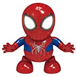 Digital Zone Battery Operated Action Figure Dancing Spider Man Robot Toy with 3D Flashing Lights & Music Toys for Kids