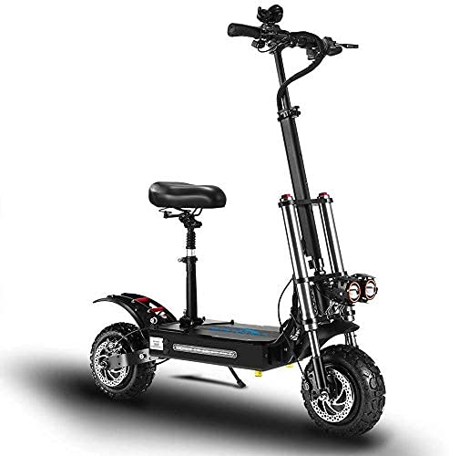 JTYX Scooter eléctrico Plegable para Adultos 5400W Patinete eléctrico Ligero de 11...
