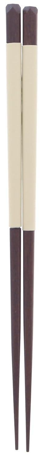 誤提案調停者箸 シリコン 漆 塗装 木製 (天然木) アイボリー 23cm