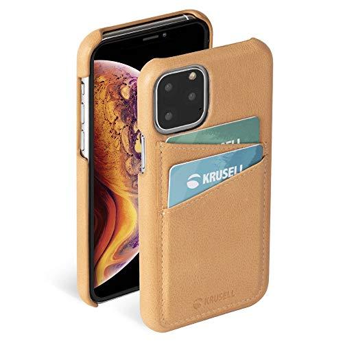 "Krusell Funda Compatible con Apple iPhone 11 Pro MAX 6.5"" Cuero - Sunne - Desnudo Carcasa Case Bumper Ultra Slim/Resistente con Compartimento para Tarjetas"
