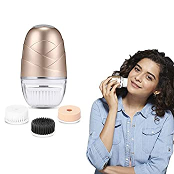 Lifelong LLM720 Rechargeable Face Cleaning Massager (Golden)