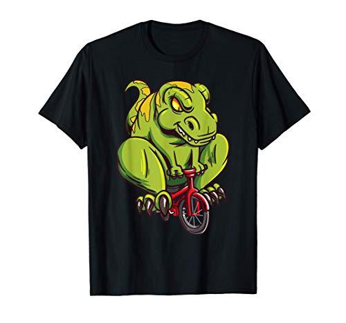 T-Rex Riding A Bike - Funny Trex Dinosaur Bicycle Rider Camiseta
