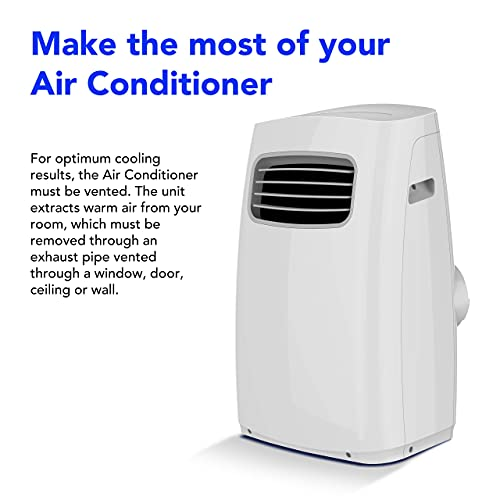 Devola Comfee 3 in 1 Portable Air Conditioning, Air Cooler, Dehumidifier, with Fan Function. Remote Control, LED Display, 2 Fan Speeds Sleep Mode & 24 Hour Timer (Comfee 12000BTU)