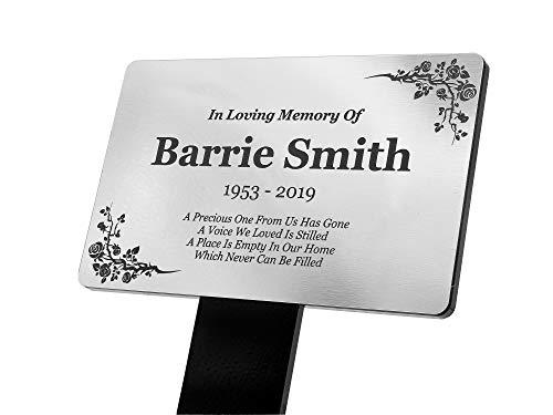 Piquet de plaque commémorative personnalisé - Acrylique argenté