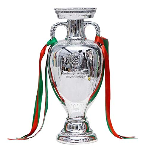 Trofeos, medallas y premios Campeón del Fútbol Club Escuela Trophy Deportes Regalo de Cumpleaños del Día de Fiesta Home Living Room Decoration (Color : Silver, Size : 45cm)
