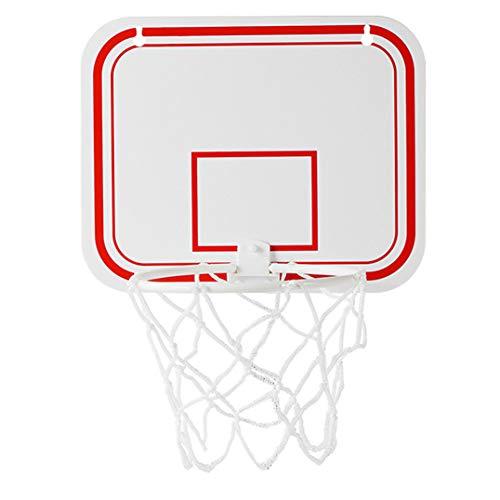 Weryffe - Mini canasta de baloncesto para niños, de plástico, para interiores, ajustable, para colgar en el baloncesto