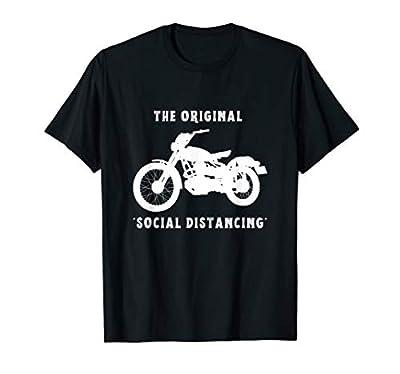Funny Motorcycle Original Social Distancing T-Shirt