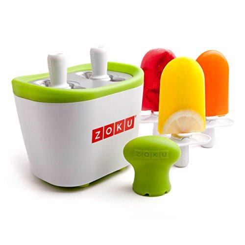 La revolución de los helados en casa y sin cables! El set incluye Molde principal con 3 cavidades 6 palos reutilizables 6 bases antigoteo