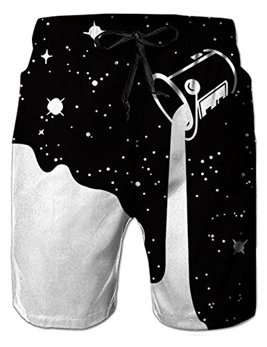 NEWISTAR männer Shorts 3D Druck Kurze Hose Badehose Freizeithose Jogginghose Sporthose Trainingshose Jogger Sweatpants XL Galaxy