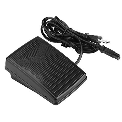 Akozon Nähmaschine Fußsteuerung Pedal EU-Stecker 200-240V Elektronische Fußsteuerung Universal Home Nähmaschine Fußschalter Pedal Variable Speed Controller mit Netzkabel (EU-Stecker)