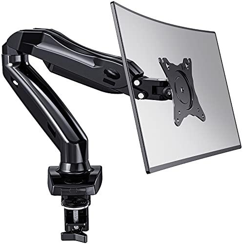 HUANUO 13-27 Zoll Monitor Halterung Gasdruckfeder Arm 360° Drehbar für LED LCD Bildschirm, 2 Montageoptionen, VESA 75/100