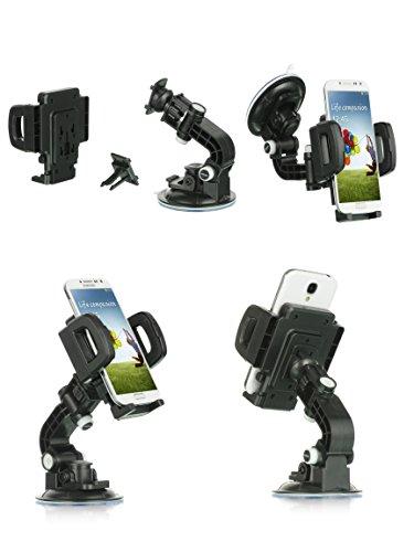LG L Bello 2 Case, LG MAX Case, Mstechcorp - Heavy Duty Universal Car Mount Mobile Phone Holder Touch Windshield Dashboard Car Mount Holder (Car Mount)
