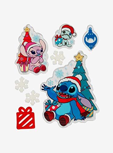 Disney Lilo & Stitch Holiday Gel Window Cling Set