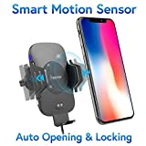 Wireless Charging Car Mount, Insten Quick Charge Fast Charger Air Vent Phone Holder Automatic Open Smart Sensor Compatible with iPhone 11/11 Pro/11 Pro Max/X/XS Max/XR/8 Plus/Galaxy S10/S10 Plus/S10e