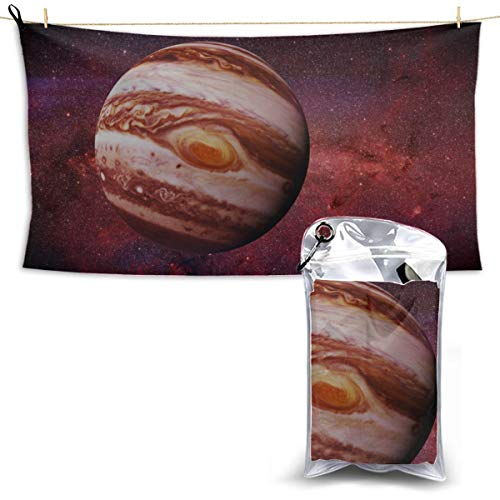 Fifth Planet in Solar System Microfiber Towel Hiking Microfiber Towel Travel Sports Towel Beach Towel Baby 27.5'' X 51''(70 X 130cm) Best for Gym Travel Camp Yoga Fitnes
