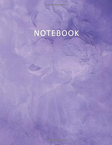 Notebook: Quaderno per appunti con 100 pagine bianche e numerate – Elegante effetto Acquerello con  Rose Viola – Misura A4 – Diario, Doddles, Schizzi, Disegni, Note, Memoriea
