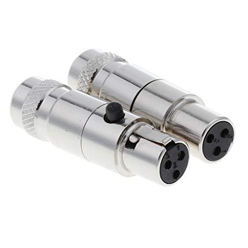 #N/a 2 Pezzi 3 Pin XLR Femmina Connettore 5mm Microfono con Foro di Coda