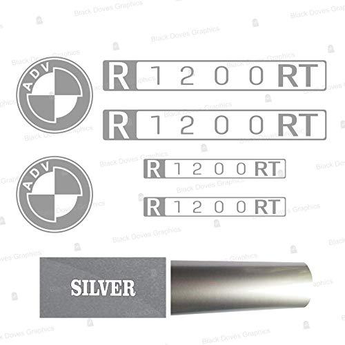 2pcs Adhesivo Compatible con Motocicletas Moto R1200 RT BMW Motorrad R 1200 R1200RT (Silver)