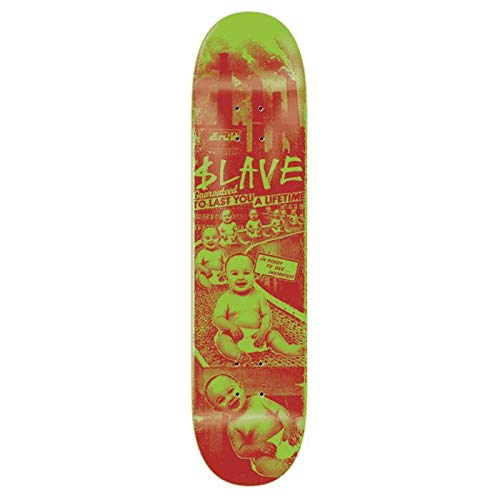 Slave Skateboard Toxic Babies Green Red 8.5