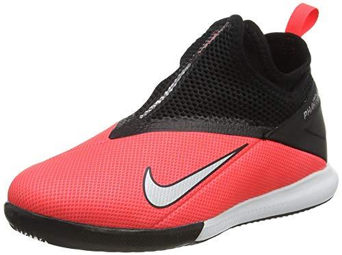 Nike Phantom VSN 2 Academy DF IC, Scarpe da Calcetto Indoor Unisex-Adulto, Rosso Laser Crimson Metallic Silver 606, 34 EU