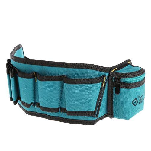 gszfsm001 - Cinturón de almacenamiento multibolsillo para cinturón, herramienta de almacenamiento, destornillador,...